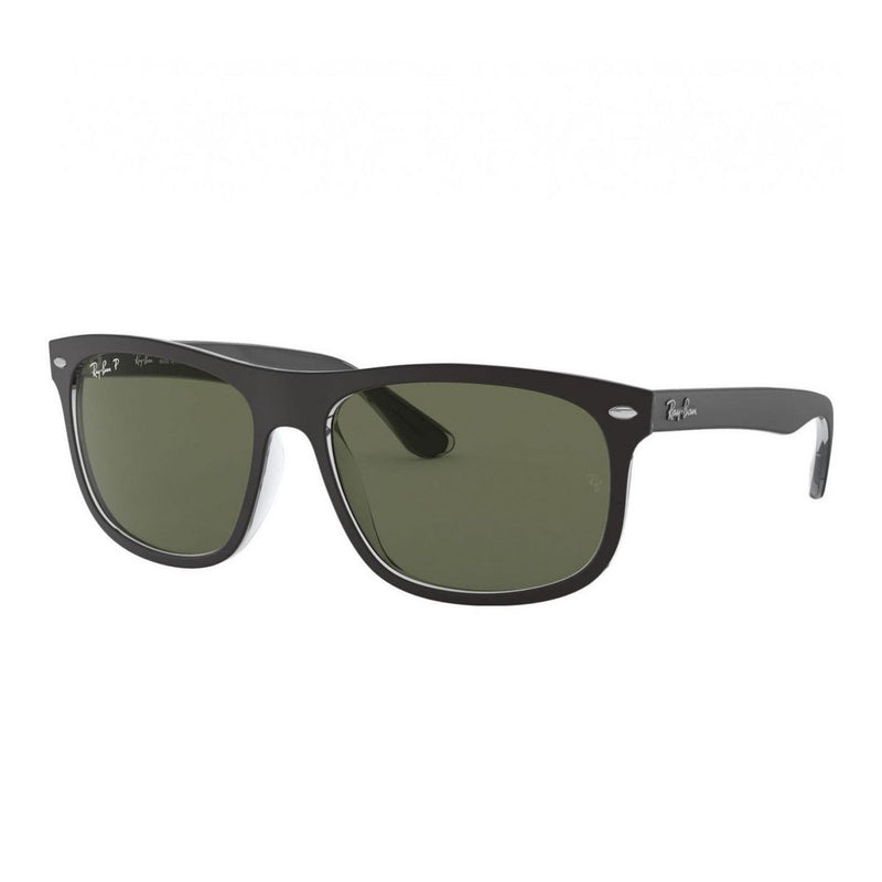 Ray-Ban RB4226-60529A Transparent Black Square Dark Green Polarized Lens Sunglasses 8053672453959