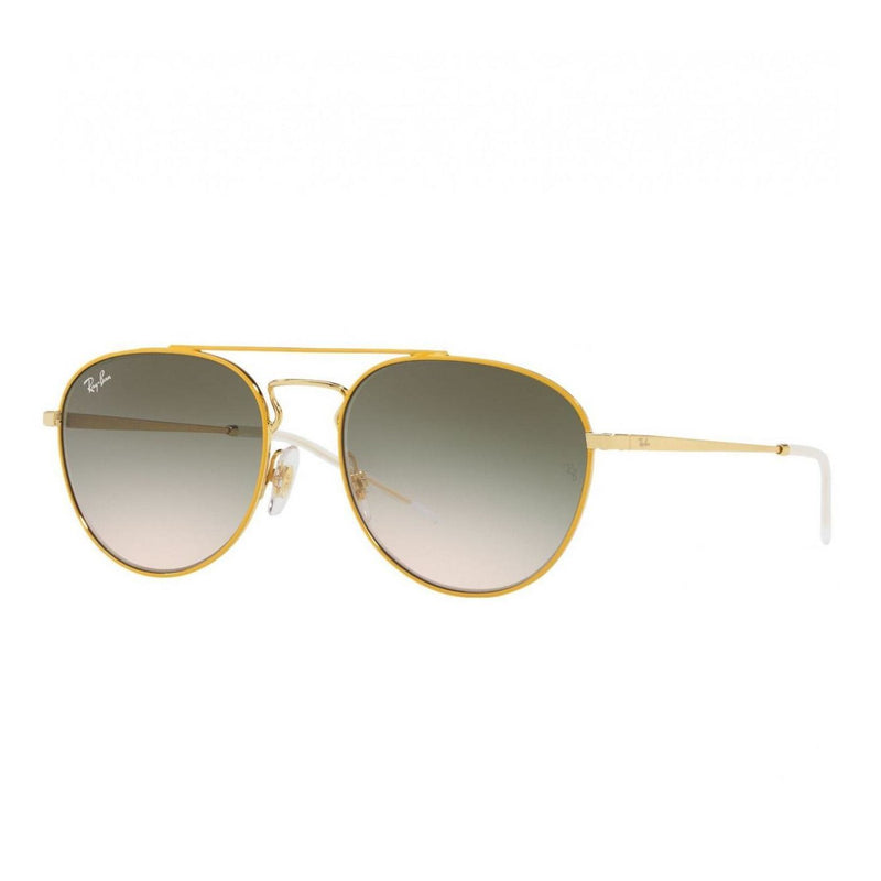 Ray-Ban RB3589-90582C Yellow Gold Aviator Green Gradient Lens Sunglasses 8053672837094