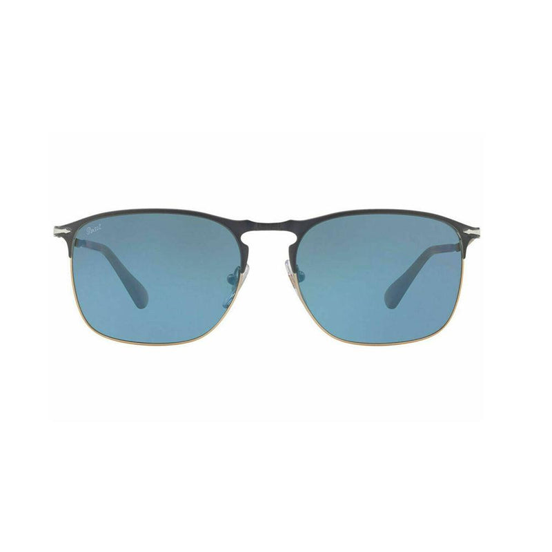 Persol Men's Squared Sunglasses PO7359S 1076/56 Blue & Brown 7359 NEW 55