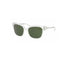 Tory Burch Sunglass TY 7110 168071 Square Style - Crystal Silver Color Green Lens