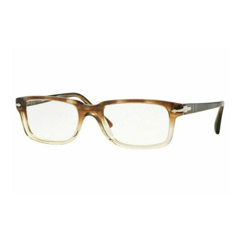 Persol Eyeglass PO3130V 1037 52mm Rectangle Style | Striped Brown Crystal Frame