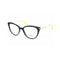 Miu Miu Eyeglass MU01QV VYA1O1 50mm Cat Eye Style - Women Eyeglass Blue/Gold Frame