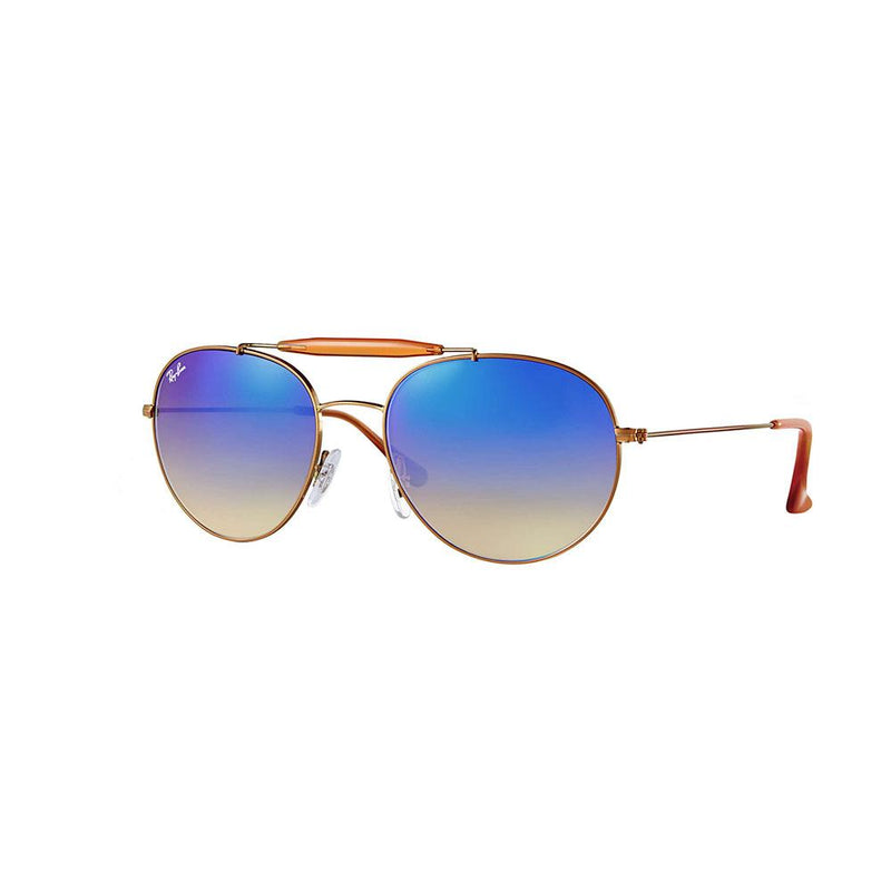 Ray-Ban RB3540 198/8B 56 Sunglasses Bronze Copper / Blue Flash Lens