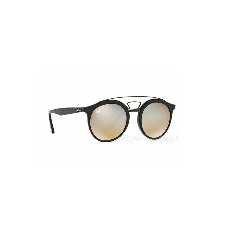 Ray Ban RB4256 6253B8 46 New Gatsby Sunglasses Matte Black/Mirror Grey Gradient
