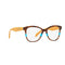 Prada Eyeglass Cat Eye Style PR12TV 2581O1 51 | Striped Brown Azure Color Crystal Lens