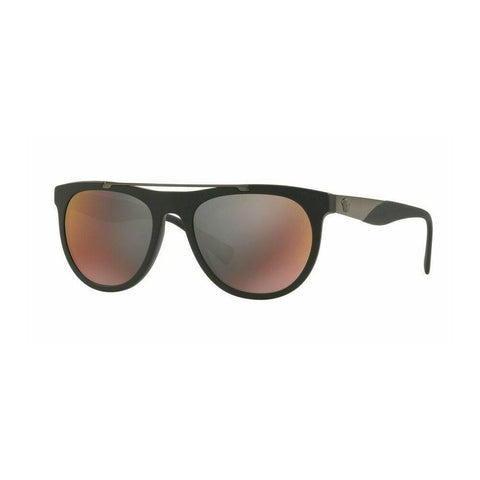 Versace V-WIRE CURVE VE 4347 5122/W Matte Black/Grey Red Mirror Sunglasses