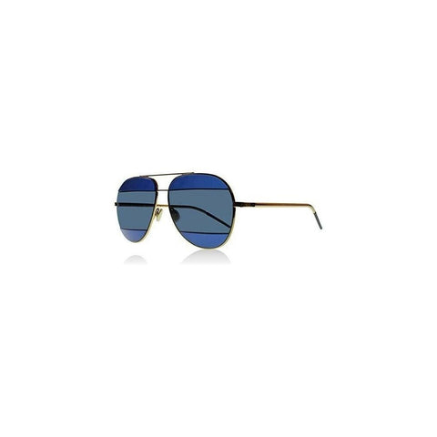 CHRISTIAN DIOR Split 1 Blue Lilac Metal Aviator Sunglasses DIORSPLIT