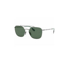 Burberry FLIGHT BE3107 1003/71 56 Ruthenium / Green (1003/71 B) Sunglasses