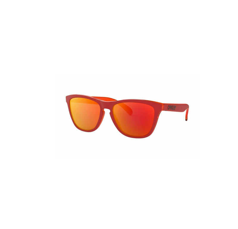 Oakley Sunglass Frogskins Square Style Matte Red Color Prizm Ruby Lens - OO9013-E055
