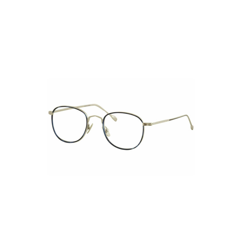 John Varvatos Eyeglasses V370  Blue/Silver Full Rim Optical Frame 52mm Optical