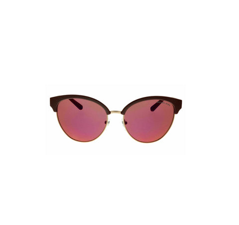 Michael Kors MK2057 3307D0 Amalfi Merlot / Sable Cat Eye Sunglasses