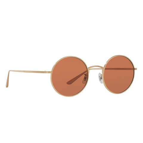 Oliver Peoples Sunglasses OV1197ST 525253 49 Brushed gold Frame Persimmon Lens