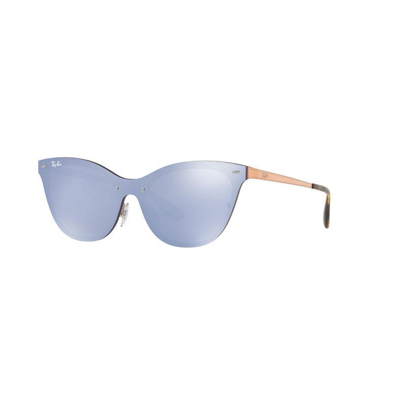 Ray-Ban Blaze Cats Sunglasses RB3580N 90391U 43 Bronze Copper w/ Violet Mirrored