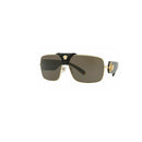 Versace Sunglass Squared Baroque Shield Style Brown Lens - Women Sunglass Gold Frame VE2207QA 1002/3