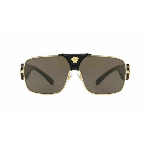 Versace Squared Baroque Sunglasses VE2207QA 1002/3 Gold / Brown Lens