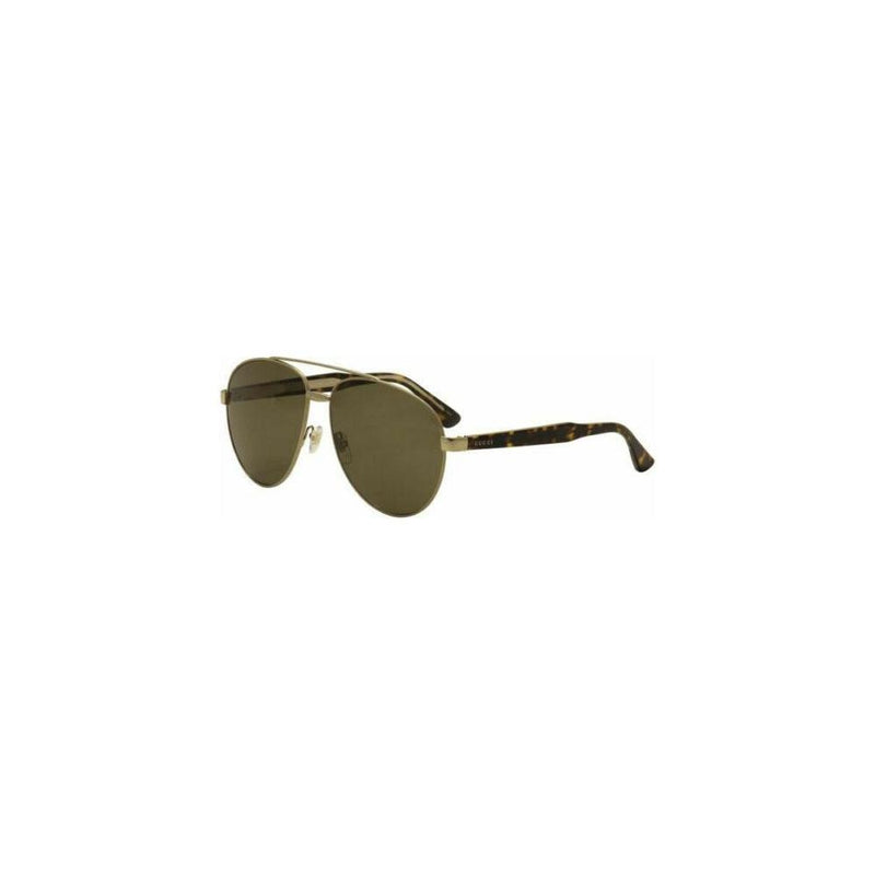 Gucci Sunglass - GG0054S 002 61MM Pilot Style Gold / Havana Color Unisex Sunglass