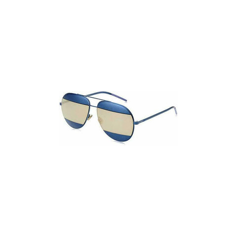 CHRISTIAN DIOR Split 1 Navy Blue Terracotta Mirrored Metal Sunglasses DIORSPLIT
