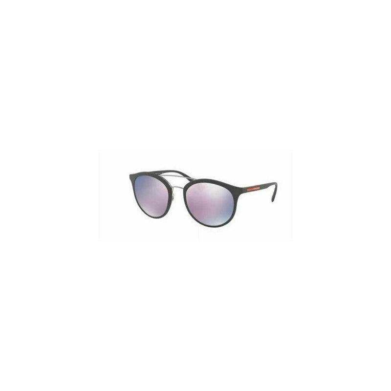 Prada Sunglass Linea Rossa Round Style PS04RS TFZ5T0 54 - Grey Rubber Color Dark Grey/Pink mirrored Lens