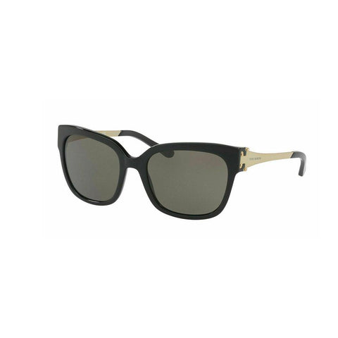 Tory Burch Sunglasses TY7110 1377/3 57 Black Gold Frame 1377/3  Grey Lens