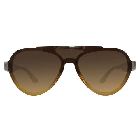 Prada PR01US VY60D4 44 Aviator Unisex Yellow Frame Brown Lens Genuine Sunglasses