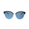Michael Kors Sunglass - MK2057 MK/2057 330855 Cat Eye Style Amalfi Model Navy / Silver Sunglass