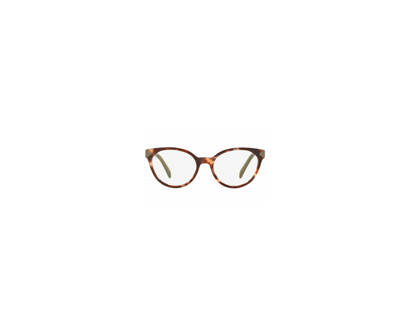 Prada Eyeglass Cat Eye Style PR01TV UE01O1 51 - Spotted Brown/Pink Color