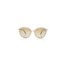 Oliver Peoples Sunglass Oval Style Brushed Gold Color Chrome Brown Lens | Gwynne OV1178S 503913 62