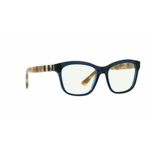 New Burberry BE2227 3603 Blue RX Prescription Eyeglasses Frames 54mm Italy