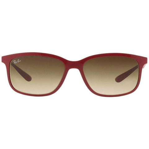 Ray Ban RB4215 612613 57MM Liteforce Red Frame Brown Lens Genuine Sunglasses
