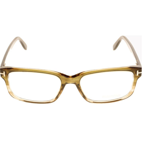 Tom Ford TF 5313 0FT5313 098 55  Shiny Striped Olive Green To Light  Eyeglasses