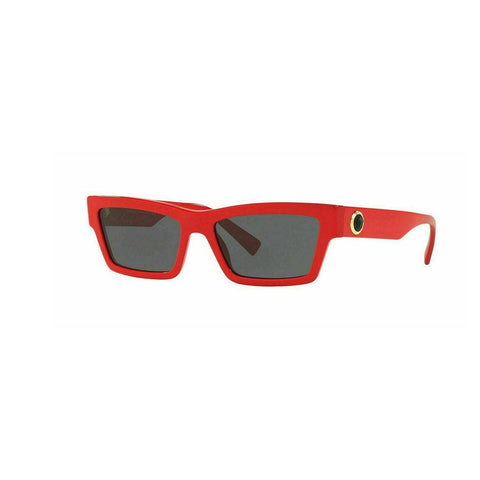 Versace VE4362 5065/87 Fashion Rectangle Cat eye Medusa Head Sunglasses Red/Gray