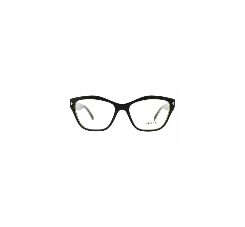 Prada Eyeglass Cat Eye Style VPR27SV UR01O1 51 - Grey Yellow Color