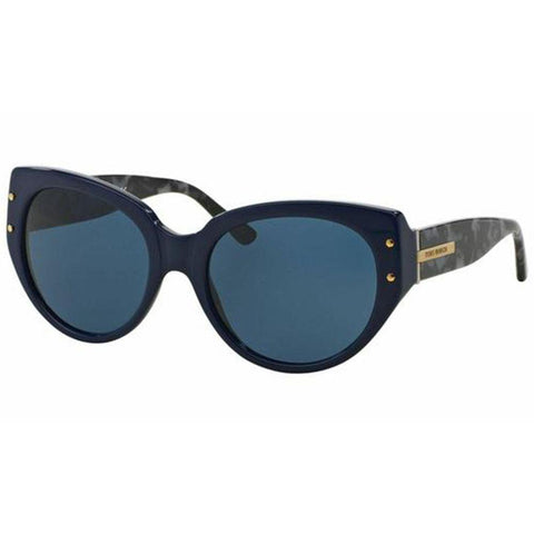 Tory Burch Sunglasses Cat Eye Style Navy Tweed Lens