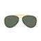 Ray Ban Blaze Aviator RB3584N 905071 61 Gold Metal Aviator Sunglasses Green Lens