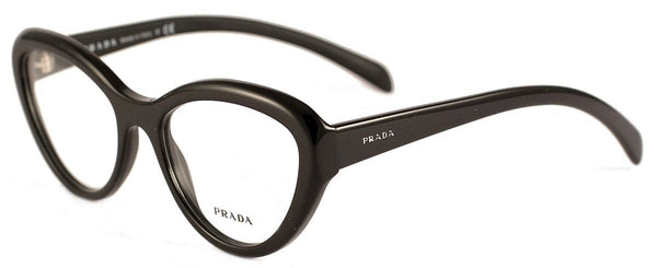 Prada Cat Eye Style Black Matte Inside Eyeglasses W/Demo Lens