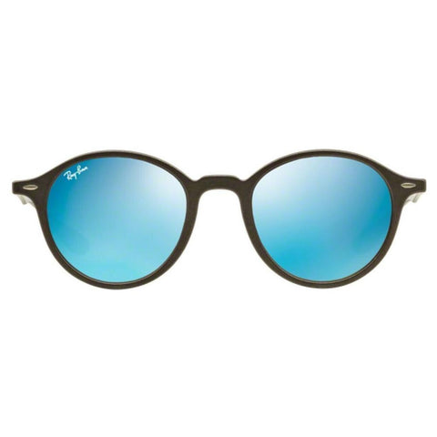 Ray Ban RB4237 620617 50 Grey Round Liteforce Blue Flash Lens Sunglasses