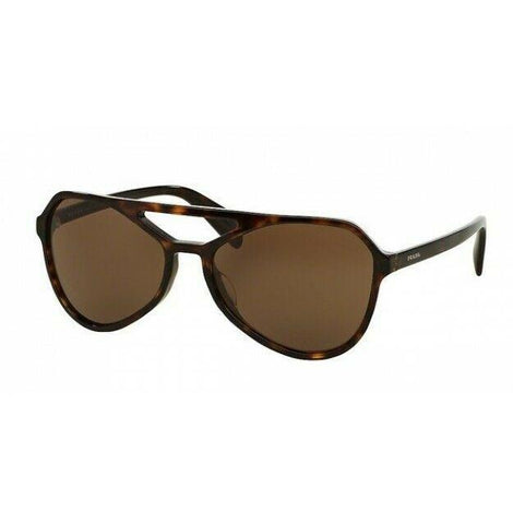 Prada Aviator Style Sunglasses W/Brown Lens