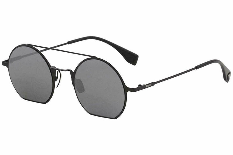 Fendi Sunglass Eyeline Fashion Style FF 0291/S-0807-48/22 Black Round Color | Unisex Sunglass