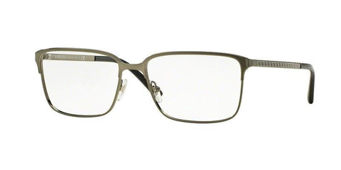 Versace Men Rectangular Eyeglasses Gunmetal Frame Demo VE1232 1262
