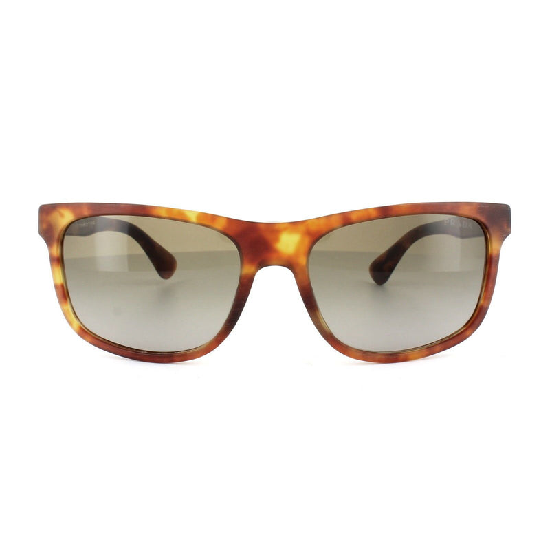 Prada Sunglass - Rectangular Style PR15RS TOW1X1 60MM Matte Brushed Havana With Brown Gradient Lens