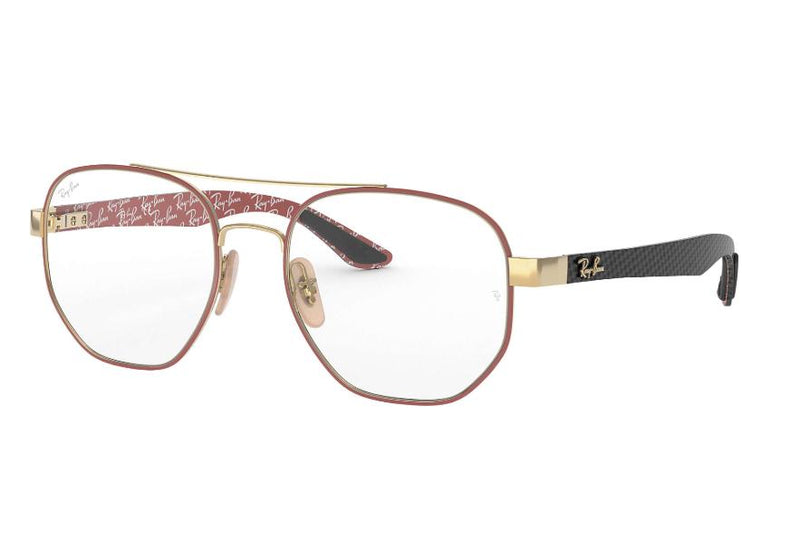 Ray Ban RX8418 3015 53 Bordeaux Gold Black Bordeaux Eyeglasses