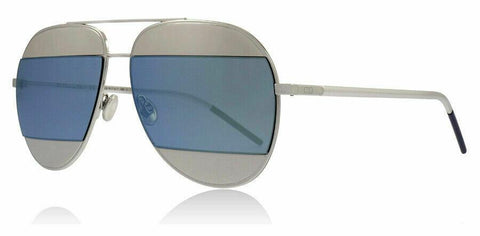 Christian Dior Sunglasses Aviator Style Grey Blue Mirrored Lens.