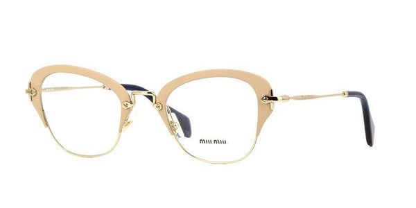 New MIU MIU MU53OV UFZ1O1 50MM RX Eyeglasses Optical Matte Ivory  50 24 140