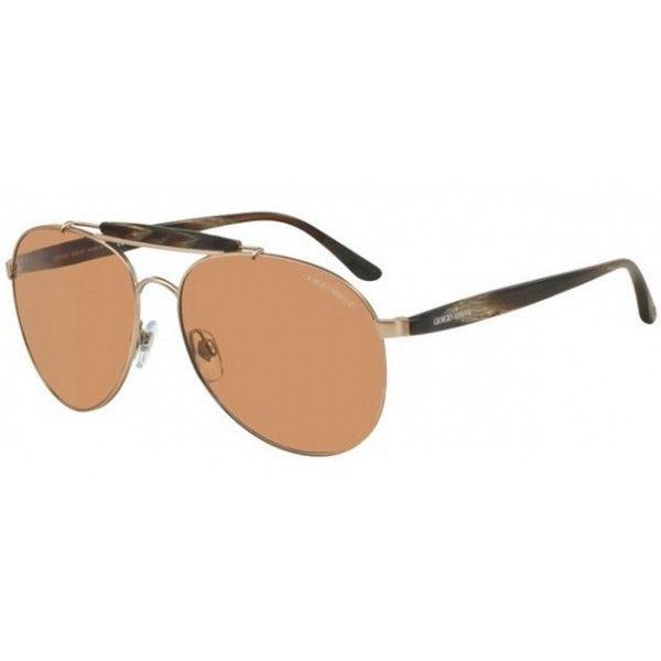 Giorgio Armani Sunglasses Aviator Style Brown Gradient Lens