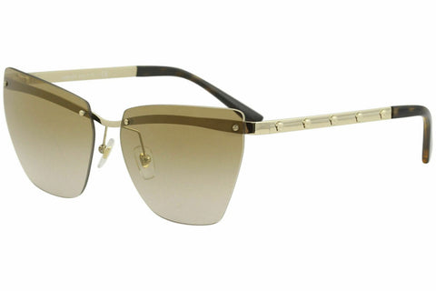 Versace Women's VE2190 VE/2190 1252/6E Pale Gold Fashion Cat Eye Sunglasses 58mm