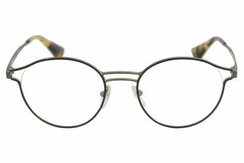 Prada Eyeglasses VPR62T VPR/62/T VHJ/1O1 Black/Antique Lead Optical Frame 50mm