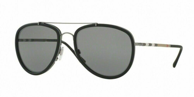 Burberry Sunglasses BE3090Q 1003T8 58 Grey Mirror Polarized Aviator Sunglasses