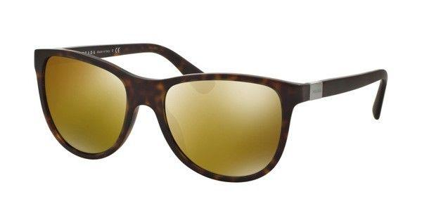 Prada Sunglasses Cat Eye Style Brown Mirrored Lens