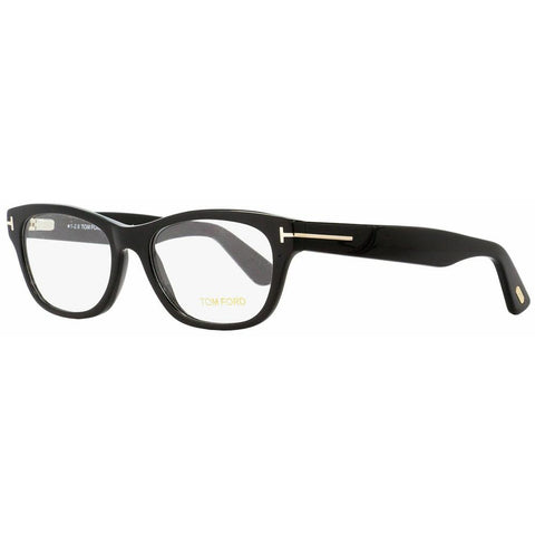 Tom Ford Rectangular Eyeglasses TF5425 001 Black/Gold 53mm Optical Frame