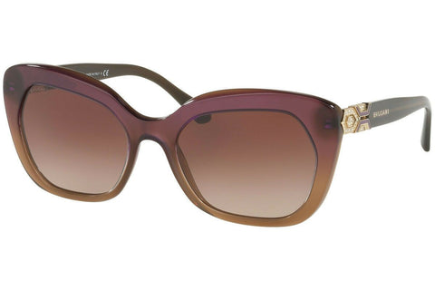Bvlgari Sunglass Cat Eye Style Violet Gradient Frame Color | BV8213B 546313